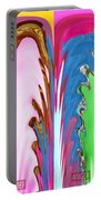 Abstract Emotional Stages  Confusion Disbelief Grief Anger Walkaway Portable Battery Charger