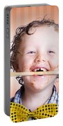 Adorable Little Boy Cooking Chocolate Easter Cake Portable Battery Charger