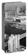 Aerial Of Downtown Tampa And Harbour Island Portable Battery Charger