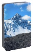 Aerial Of Mount Sneffels With Snow Portable Battery Charger
