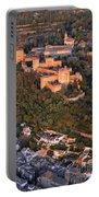 Aerial Photo  Alhambra And Albaycin In Granada Portable Battery Charger