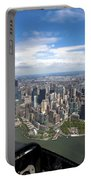 1-aerial View Of Manhattan Portable Battery Charger