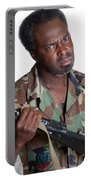 African American Man With Gun Portable Battery Charger