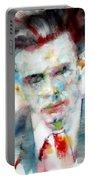 Aldous Huxley - Watercolor Portrait Portable Battery Charger