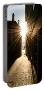 Alley In Backlight Portable Battery Charger