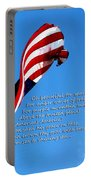 America The Beautiful - Us Flag By Sharon Cummings Song Lyrics Portable Battery Charger