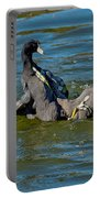 American Coots Fighting Portable Battery Charger