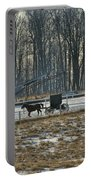 Amish Buggy And Corn Crib Portable Battery Charger