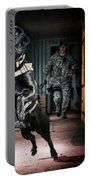 An Air Force Security Forces K-9 Portable Battery Charger