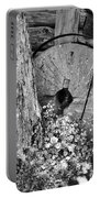 An Old Mill Stone Ely's Mill Roaring Fork Bw Portable Battery Charger