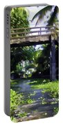An Old Stone Bridge Over A Canal Portable Battery Charger