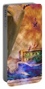 Ancient Cyprus Map And Aphrodite Portable Battery Charger