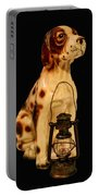 Antique Dog W Lantern Portable Battery Charger