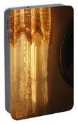 Art Homage Edward Hopper Winter Light Window Curtain Reflection Bedroom Casa Grande Arizona 2005 Portable Battery Charger