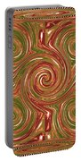 Artistic Embossed Twirl Decoration Chakra Style Unique Signature Navinjoshi Artist Created Images Te Portable Battery Charger