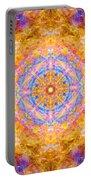 Sun Sparkle Mandala  Portable Battery Charger