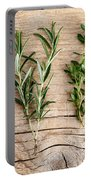 Assorted Fresh Herbs Portable Battery Charger