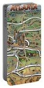 Atlanta Cartoon Map Portable Battery Charger