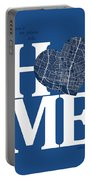 Austin Street Map Home Heart - Austin Texas Road Map In A Heart Portable Battery Charger