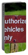 Authorized Vehicles Only Portable Battery Charger