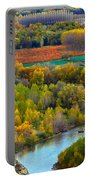 Autumn Colors On The Ebro River Portable Battery Charger by RicardMN Photography