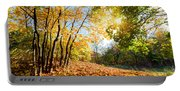 Autumn Fall Landscape In Forest Portable Battery Charger
