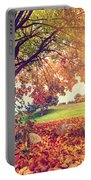 Autumn Fall Park Portable Battery Charger