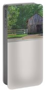 Barn By A Fence Portable Battery Charger