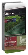 Baseball Field Burma Shave Sign Portable Battery Charger by Frank Romeo