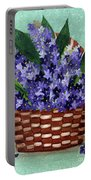 Basket Of Hyacinths  Portable Battery Charger