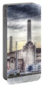 Battersea Power Station London Snow Portable Battery Charger
