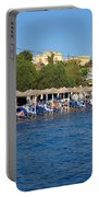 Beach In Aegina Town Portable Battery Charger