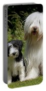 Bearded Collie And Puppy Portable Battery Charger