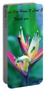 Beautiful Flower Portable Battery Charger