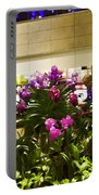 Beautiful Flowers Inside The Changi Airport In Singapore Portable Battery Charger