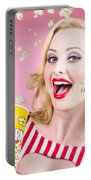 Beautiful Girl Watching Premier At Movie Theater Portable Battery Charger