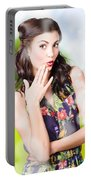 Beautiful Valentines Day Woman. Cosmetic Love Portable Battery Charger