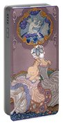 Bedroom Scene Portable Battery Charger by Georges Barbier