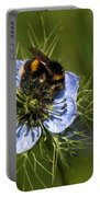 Bee Collecting Pollen Portable Battery Charger