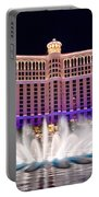 Bellagio Hotel And Casino At Night Portable Battery Charger