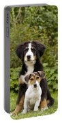Bernese Mountain & Jack Russell Puppies Portable Battery Charger