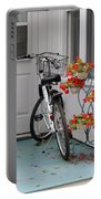 Bicycles And Geraniums Portable Battery Charger