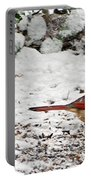 Bird In Winter Portable Battery Charger
