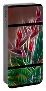 Bird Of Paradise Fractal Portable Battery Charger by Peter Piatt