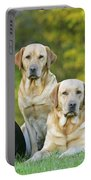 Black And Yellow Labrador Retrievers Portable Battery Charger