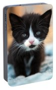 Black And White Kitten Portable Battery Charger