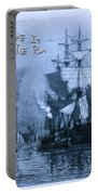 Blame It On The Rum Schooner Portable Battery Charger by John Stephens