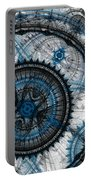 Blue Clockwork Portable Battery Charger