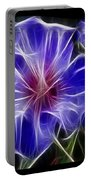 Blue Hibiscus Fractal Portable Battery Charger