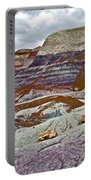 Blue Mesa Trail In Petrified Forest National Park-arizona Portable Battery Charger